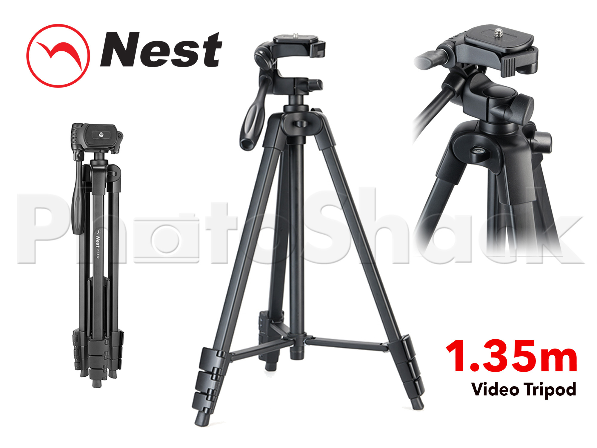 Lightweight Photo/Video Tripod 1.35m  NT510